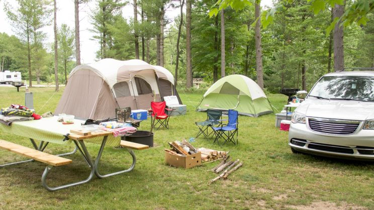multiple tent sites