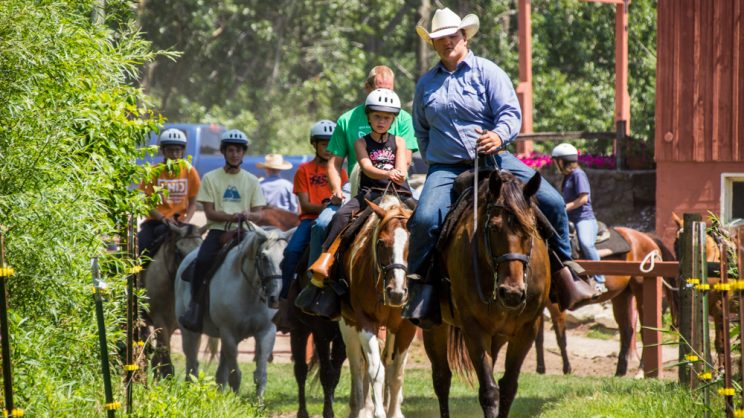 guided horse trail ride