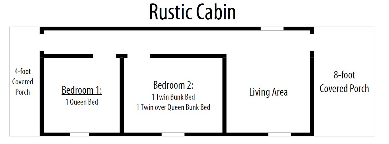 rustic cabin layout