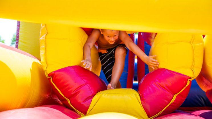 inflatable play gym